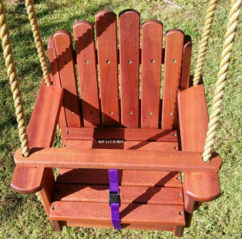 Sun Burst Sapele Kids Seat Swing