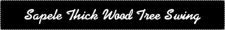 Wood Tree Swing- Sapele Thick